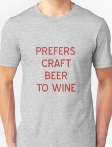 Craft Beer to Wine T-Shirt- CoolGirlTeez T-Shirt