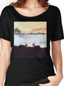 Impala in an African landscape Women's Relaxed Fit T-Shirt