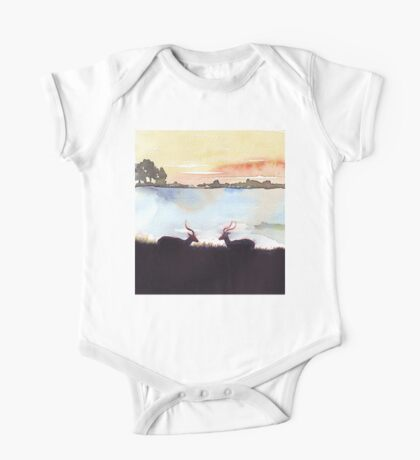 Impala in an African landscape One Piece - Short Sleeve