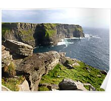 Cliffs of Moher in the Evening Sun III Poster
