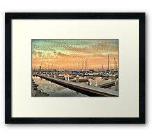 Mars Sky Marina Framed Print