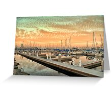 Mars Sky Marina Greeting Card