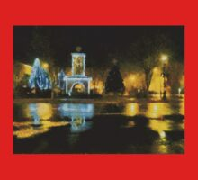 Town Square on December Night T-Shirt
