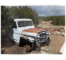 Abandoned Truck, Santa Fe, New Mexico Poster