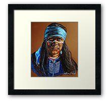 """Blue Hawk"" Framed Print"
