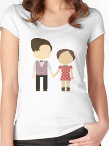 Eleventh Doctor and Clara Oswald Women's Fitted Scoop T-Shirt