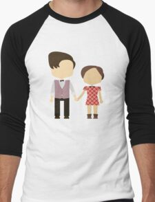 Eleventh Doctor and Clara Oswald Men's Baseball ¾ T-Shirt