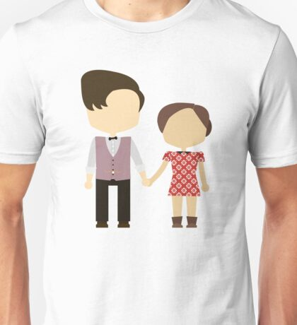 Eleventh Doctor and Clara Oswald Unisex T-Shirt
