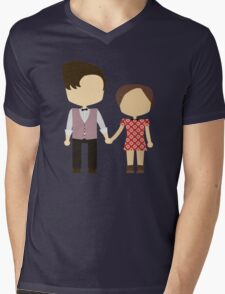 Eleventh Doctor and Clara Oswald Mens V-Neck T-Shirt