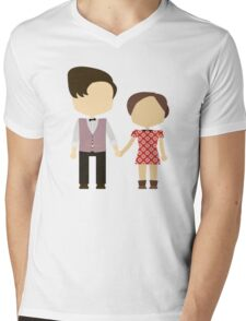 Eleventh Doctor and Clara Oswald Mens V-Neck T-Shirt