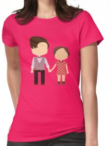 Eleventh Doctor and Clara Oswald Womens Fitted T-Shirt
