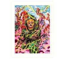 Death Takes A Stroll (distorted) Art Print