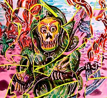 Death Takes A Stroll (distorted) by Douglas Durand