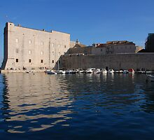 Dubrovnik, Ploce Harbour and St Ivan's fort by MigBardsley