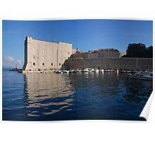 Dubrovnik, Ploce Harbour and St Ivan's fort Poster