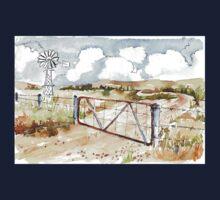 A windpomp and a gate Kids Tee