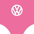 VW Van Pink Dark [IPhone Case] by Ilcho Trajkovski