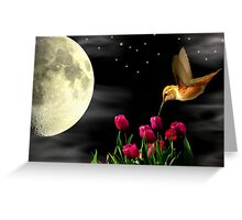 HUMMING BY THE MOON~ Greeting Card