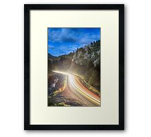 Boulder Canyon Neon Light Framed Print
