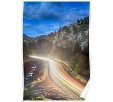 Boulder Canyon Neon Light Poster