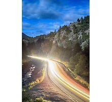 Boulder Canyon Neon Light Photographic Print