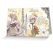 Wild Garden  Greeting Card