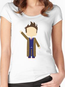 Tenth Doctor Women's Fitted Scoop T-Shirt