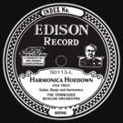 Harmonica Hoedown Edison Record label  by BrBa