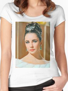 Elizabeth Taylor in The V.I.P.s. Women's Fitted Scoop T-Shirt