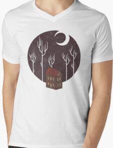 At Night Mens V-Neck T-Shirt