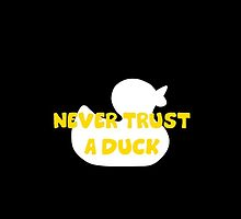 Never trust a duck - Iphone by keirrajs