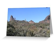 A closer look at our Goal, Warrumbungle Nat. Park. Coonabarabran. N.S.W. Greeting Card