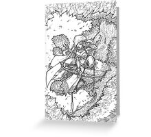 Tree Elf Greeting Card