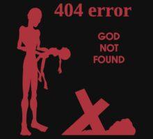 404 error: God Not Found - red by FreakShop404