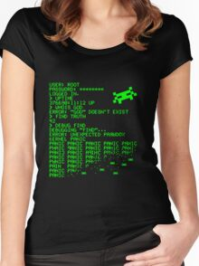 Kernel Panic! - green Women's Fitted Scoop T-Shirt