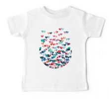 Heart Connections - Watercolor Painting Baby Tee