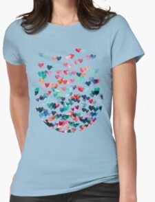 Heart Connections - Watercolor Painting Womens T-Shirt