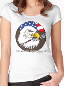 The pen has shaken nations. Women's Fitted Scoop T-Shirt
