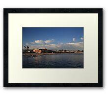 Summer Evenings in Santa Cruz Framed Print