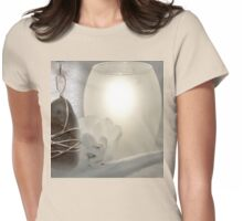 River Pebble Pendant Womens Fitted T-Shirt