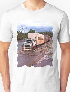 Truck crossing Ord River, West Australia  in Flood T-Shirt