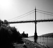 St. John's Bridge (Portland B&W) by AmishElectricCo