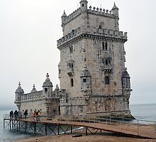 Belem Tower - Lisbon Portugal by Sherri Fink