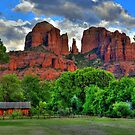 Red Rocks In Sedona Arizona- Closer Image by K D Graves Photography