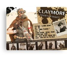 Claymore's Character Sheet (Scavengers Webseries) Canvas Print