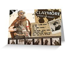 Claymore's Character Sheet (Scavengers Webseries) Greeting Card