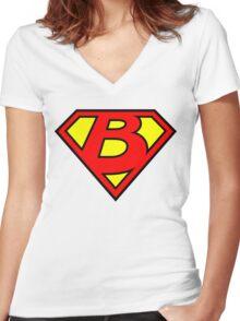 Super B Women's Fitted V-Neck T-Shirt