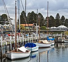 Port Fairy yachts by Roger Neal
