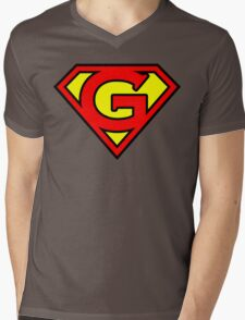 Super G Mens V-Neck T-Shirt