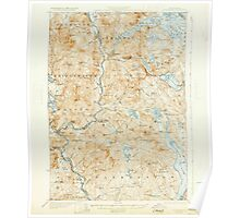 USGS TOPO Map New Hampshire NH Holderness 460051 1927 62500 Poster